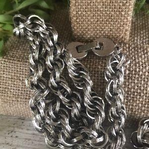 Vintage Jewelry - Vintage Monet Chain Thick Silvertone